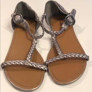 Braided and beaded sandals